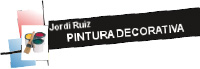 Jordi Ruiz. Pintura decorativa - Logotip color