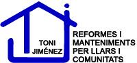 Toni Jiménez. reformes i manteniment per llars i comunitats. Logotip color